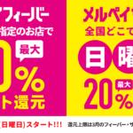 メルカリが特定店舗での50%還元の「メルペイフィーバー」を実施へ。上限は3000円還元分まで。3月1日~